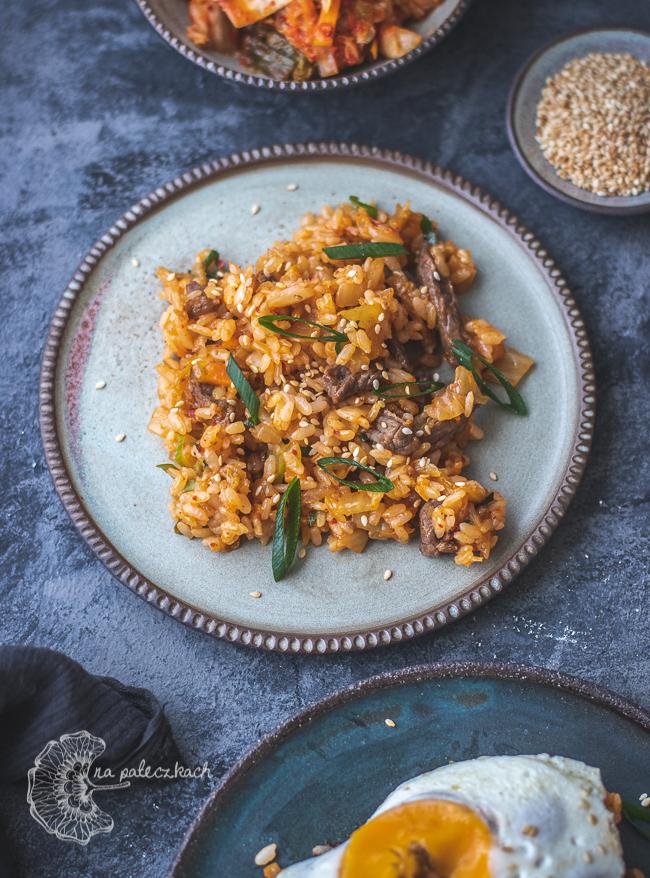 ryż z kimchi