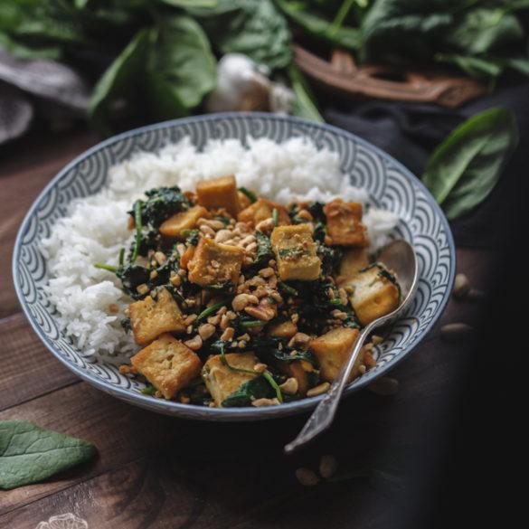 tofu ze szpinakiem