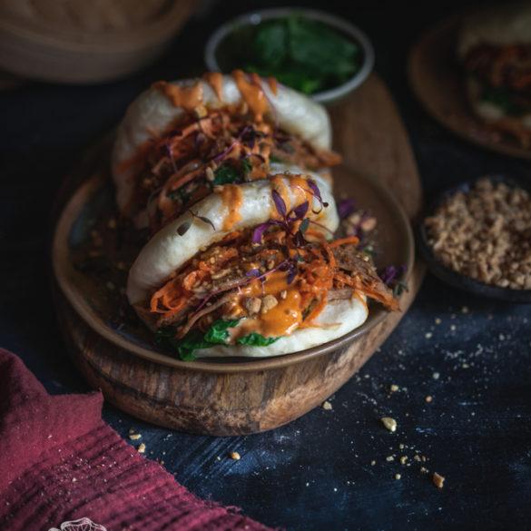 bao z szarpaną wieprzowiną