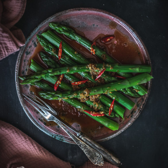 szparagi z imbirem