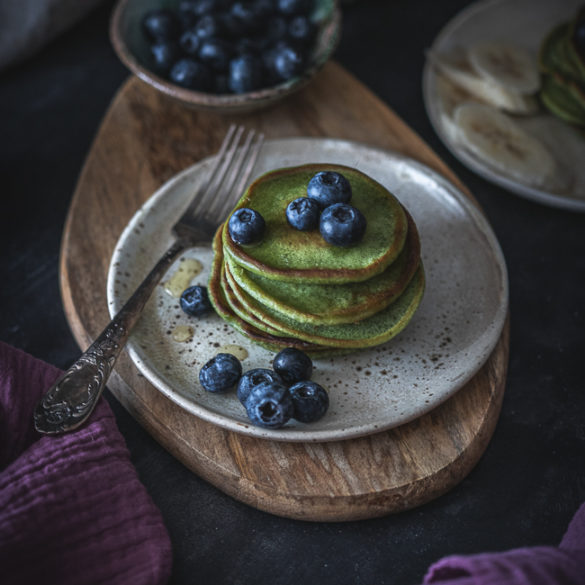 pancakes z matcha